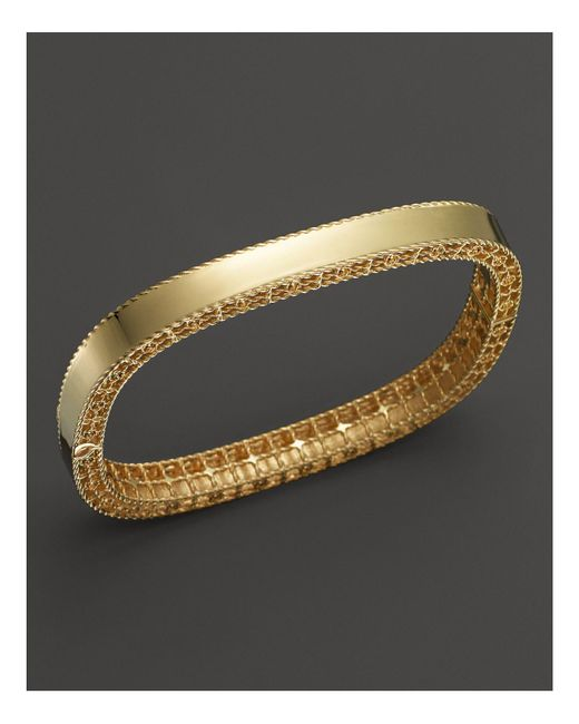 Roberto Coin | Metallic 18k Yellow Gold Princess Bangle | Lyst