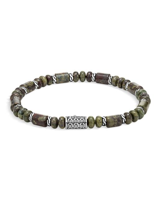 John Hardy - Metallic Sterling Silver Classic Chain Jasper Beaded Bracelet for Men - Lyst