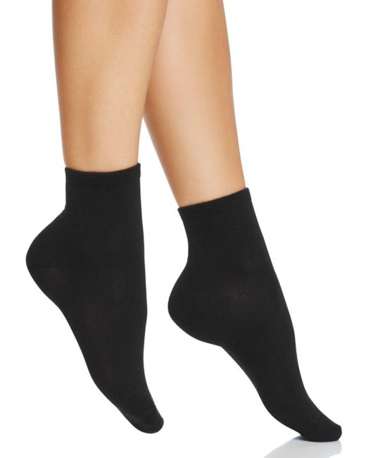 Hue - Black Super Soft Cropped Socks - Lyst