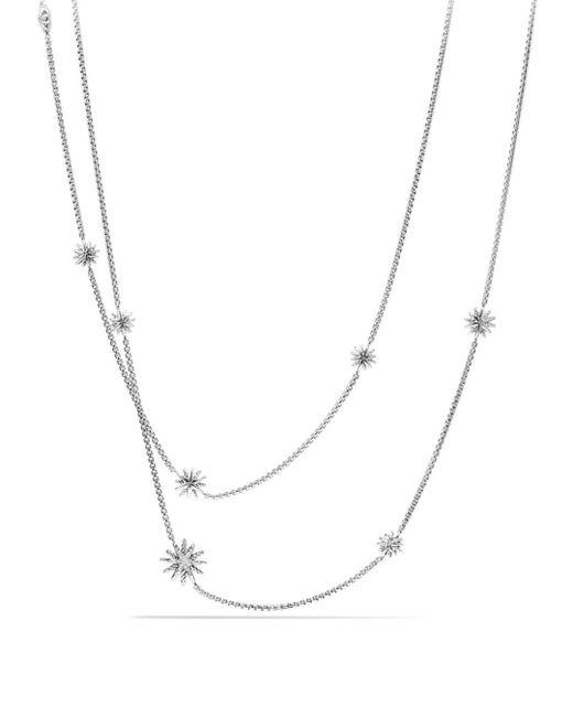 David Yurman - Metallic Starburst Station Necklace With Diamonds - Lyst