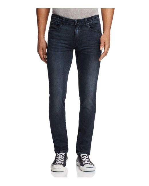 PAIGE | Blue Lennox Slim Fit Jeans In Beckett for Men | Lyst