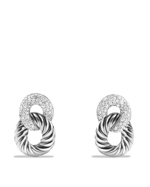 David Yurman - Metallic Belmont Drop Earrings With Diamonds - Lyst