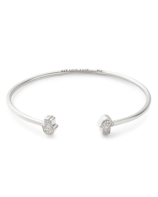 ALEX AND ANI - Metallic Hand Of Fatima Precious Cuff Bracelet - Lyst