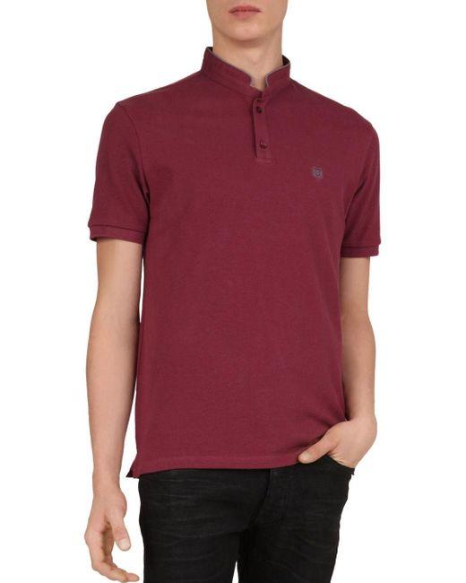The Kooples Red Piqué Regular Fit Polo Shirt for men