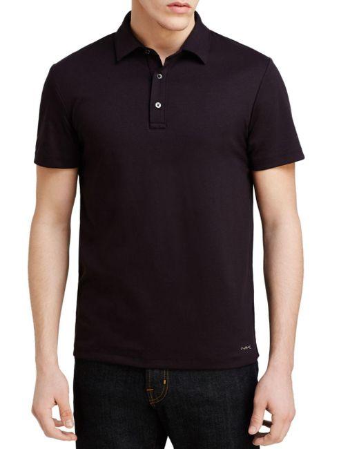 Michael Kors - Black Sleek Slim Fit Polo Shirt for Men - Lyst