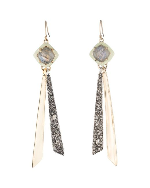 Alexis Bittar - Metallic Crystal Embellished Drop Earrings - Lyst