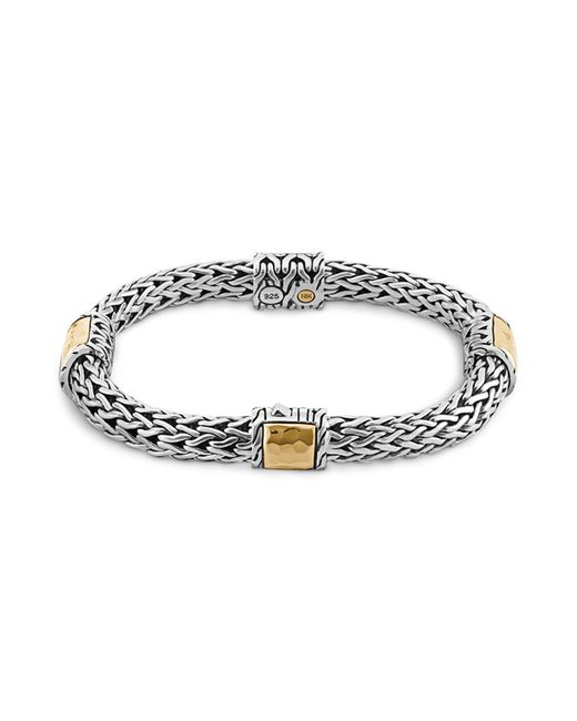 John Hardy - Metallic Sterling Silver And 18k Bonded Gold Palu Four Station Bracelet - Lyst