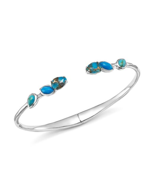 Ippolita | Multicolor Sterling Silver Rock Candy® Mixed Turquoise And Amazonite Doublet Hinged Bangle | Lyst