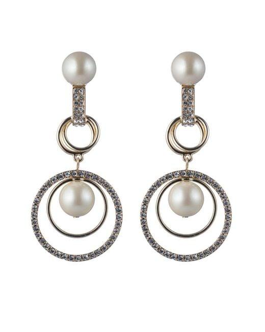 Carolee   Metallic Orbital Links Drama Clip-on Earrings   Lyst