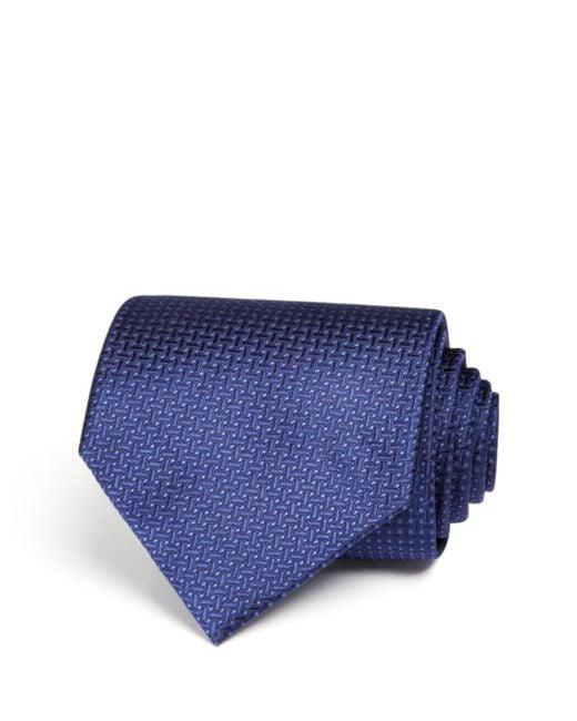 Bloomingdale's - Blue Basket Solid Wide Tie for Men - Lyst