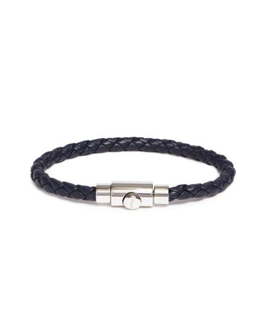 Ferragamo - Blue Woven Bracelet With Prong Closure - Lyst