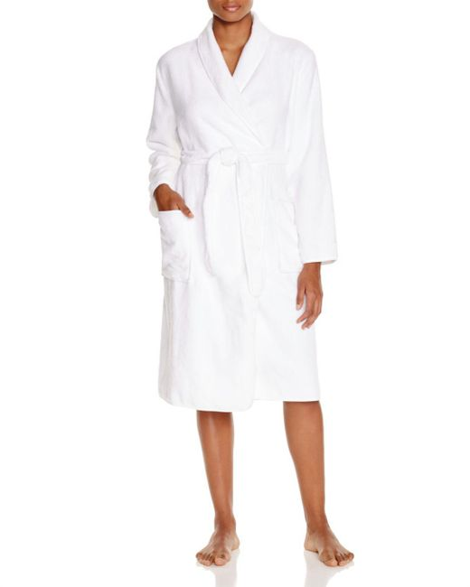 Naked - White Spa Cotton Terry Robe - Lyst