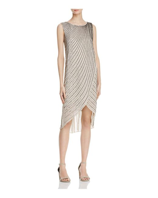 Adrianna Papell | Multicolor Bead-embellished Dress | Lyst