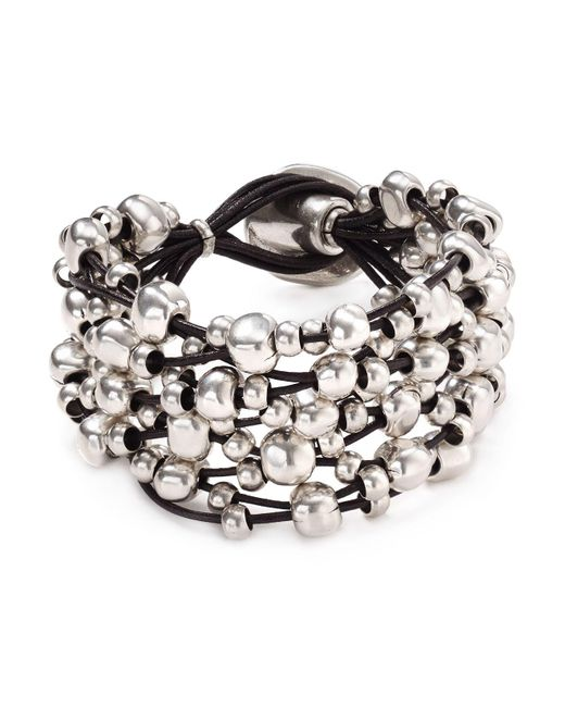 Uno De 50 | Metallic Beaded Toggle Bracelet | Lyst