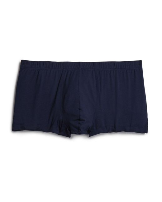 Hanro - Blue Cotton Superior Boxer Briefs for Men - Lyst
