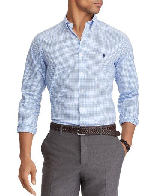 Polo Ralph Lauren - Blue Poplin Classic Fit Button-down Shirt for Men - Lyst