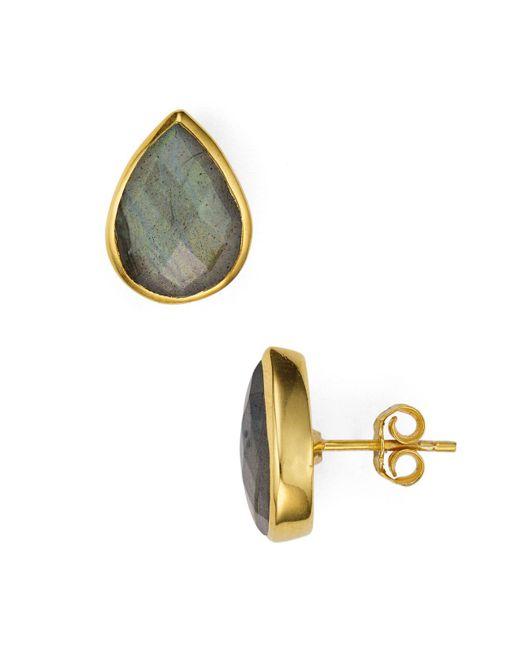 Argento Vivo | Metallic Faceted Teardrop Stud Earrings | Lyst