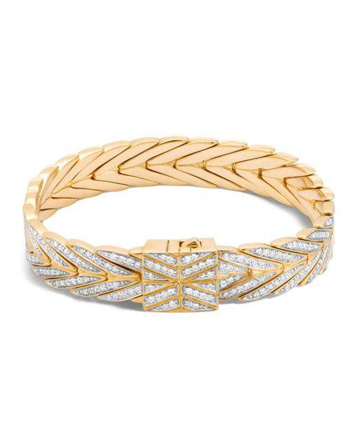 John Hardy - Metallic 18k Yellow Gold Modern Chain Bracelet With Diamonds - Lyst