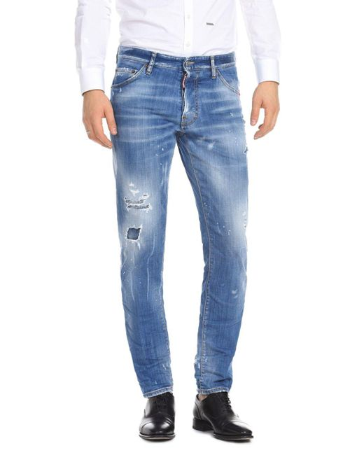DSquared² - Slim Fit Jeans In Faded Blue for Men - Lyst