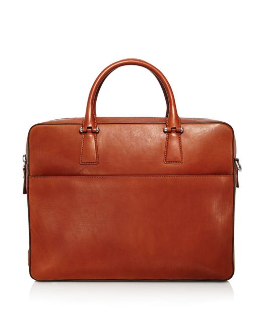 Cole Haan | Brown Lawford Leather Double Zip Briefcase for Men | Lyst