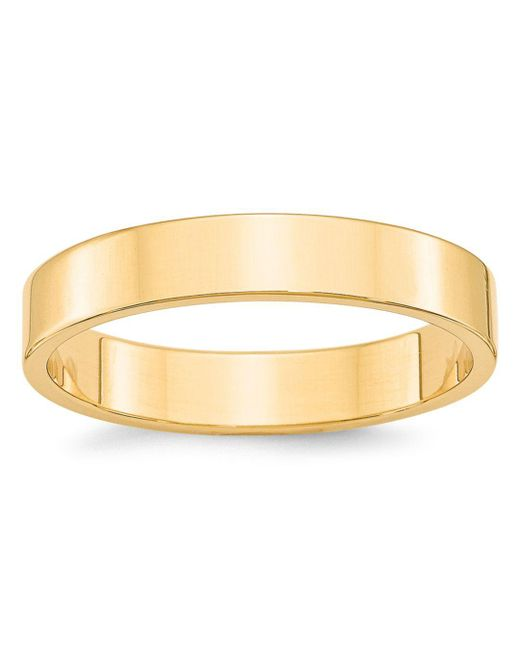 Bloomingdale's - Metallic Men's 4mm Lightweight Flat Band Ring In 14k Yellow Gold for Men - Lyst