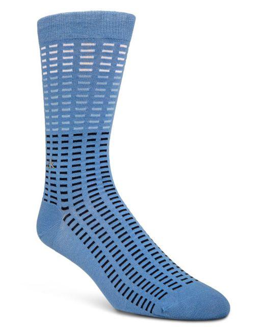 CALVIN KLEIN 205W39NYC - Blue Tiled Socks for Men - Lyst