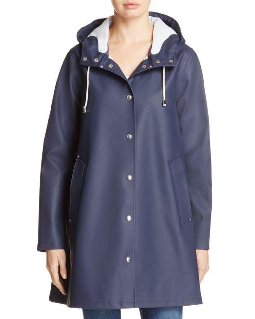 Stutterheim - Blue Mosebacke Hooded Raincoat - Lyst