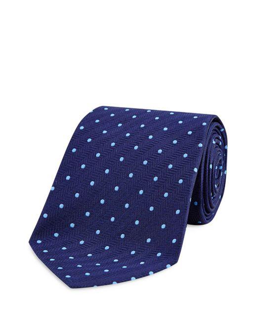 Turnbull & Asser - Blue Dot Classic Tie for Men - Lyst