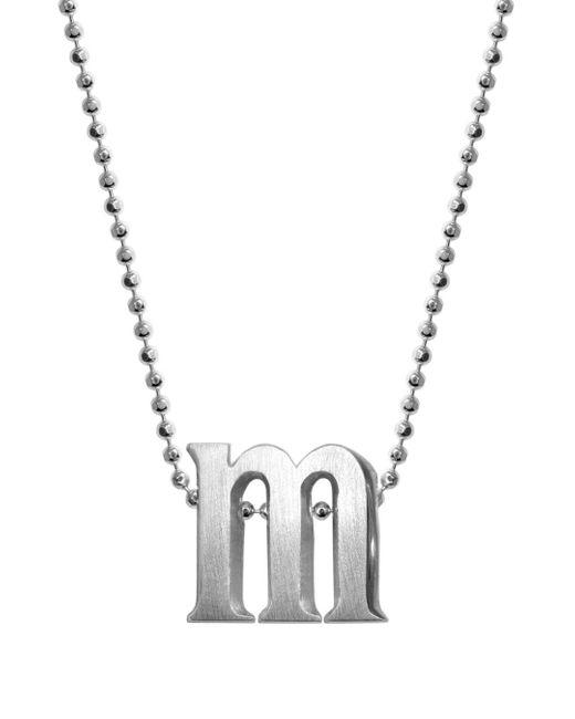 Alex Woo - Metallic Sterling Silver Little Letter A Necklace - Lyst