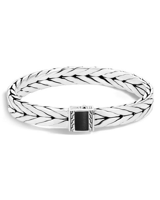 John Hardy - Metallic Sterling Silver Modern Chain Bracelet With Black Onyx for Men - Lyst
