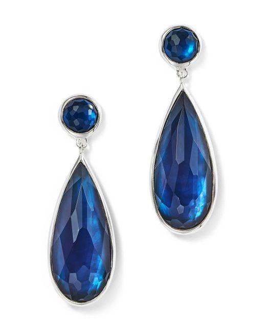 Ippolita - Blue Sterling Silver Rock Candy® Wonderland Elongated Snowman Earrings In Midnight - Lyst