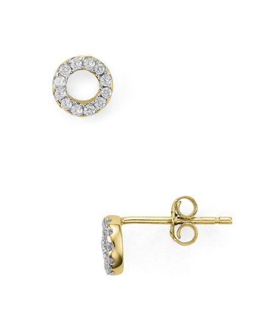 Aqua | Metallic Circle Stud Earrings | Lyst
