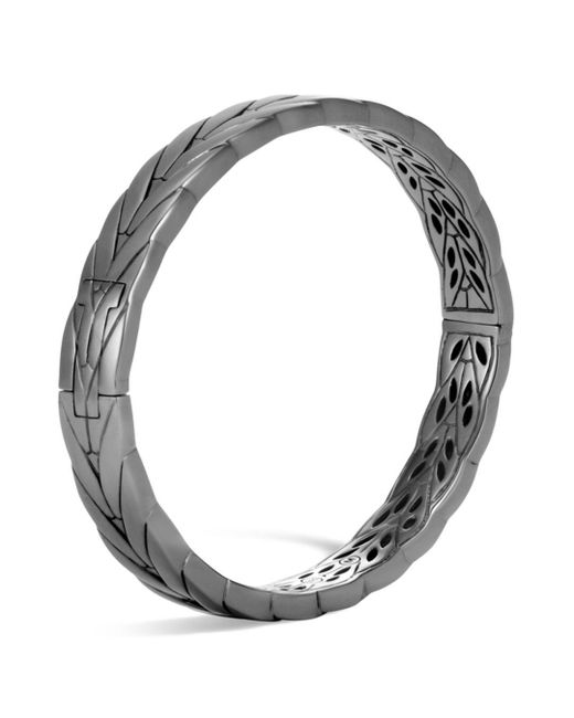 John Hardy - Gray Sterling Silver Modern Chain Small Hinged Bangle - Lyst