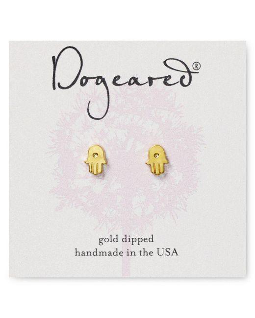 Dogeared - Metallic Hamsa Stud Earrings - Lyst