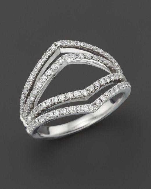 Bloomingdale's - Diamond Geometric Ring In 14k White Gold, .75 Ct. T.w. - Lyst