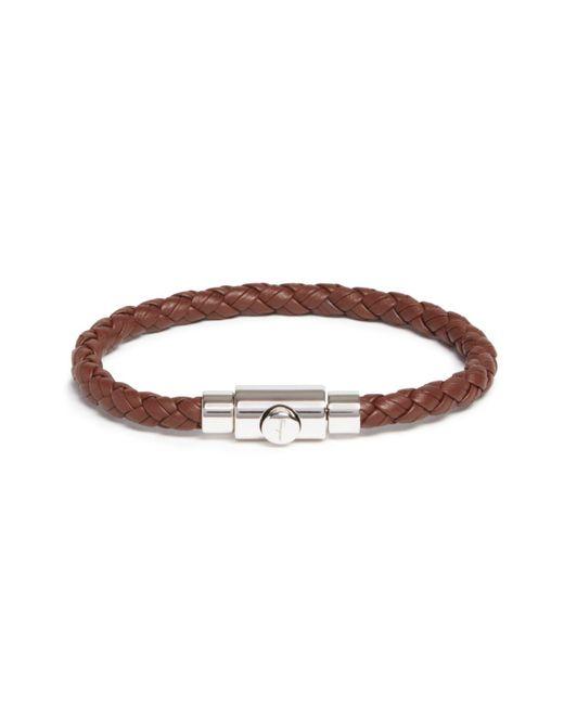 Ferragamo | Brown Woven Bracelet With Prong Closure for Men | Lyst