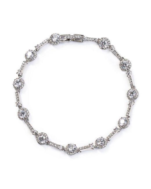 Nadri - Metallic Pavé Tennis Bracelet - Lyst