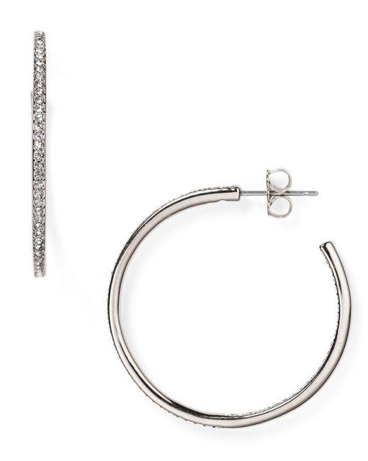 Nadri - Metallic Pavé Hoop Earrings - Lyst