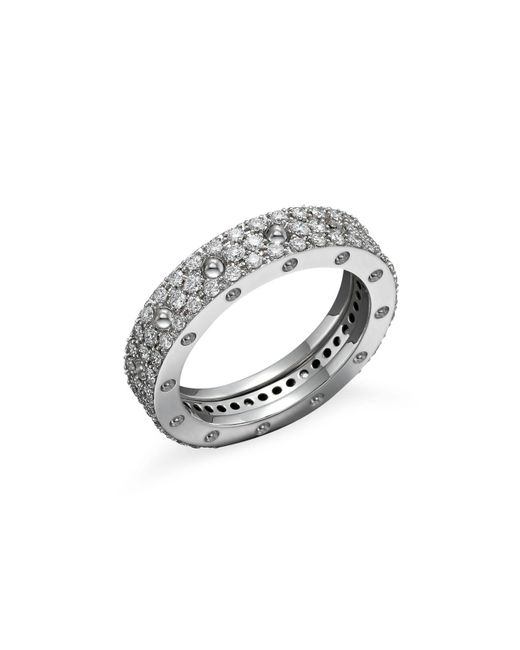 Roberto Coin | 18k White Gold Pois Moi Diamond Pavé Ring | Lyst