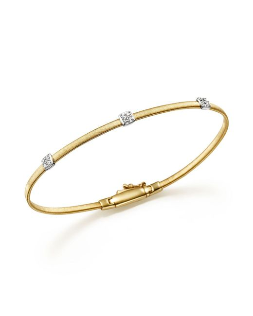 Marco Bicego | Metallic Masai 18k Yellow Gold Small Three Station Diamond Bracelet | Lyst