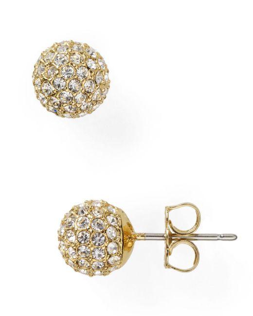 Nadri - Metallic Small Crystal Ball Earrings - Lyst