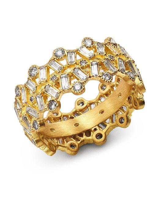 Armenta - Metallic 18k Yellow Gold Sueno Champagne Diamond & White Sapphire Ring - Lyst