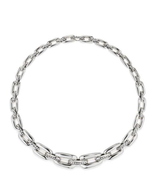 David Yurman - Metallic Wellesley Short Chain Necklace With Diamonds - Lyst
