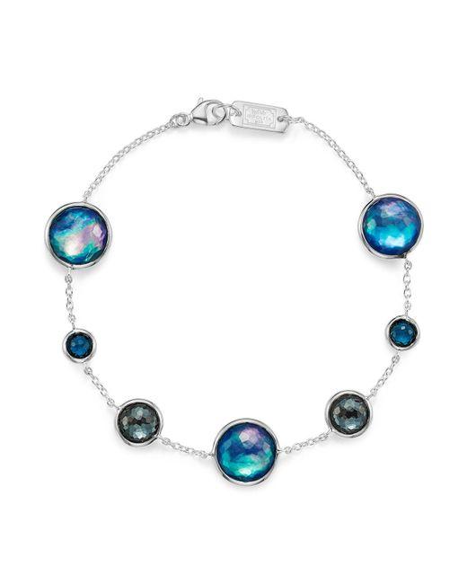 Ippolita | London Blue Topaz & Hematite Bracelet In Eclipse | Lyst