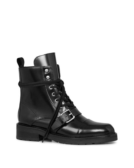 Allsaints Women S Donita Leather Lace Up Combat Boots In