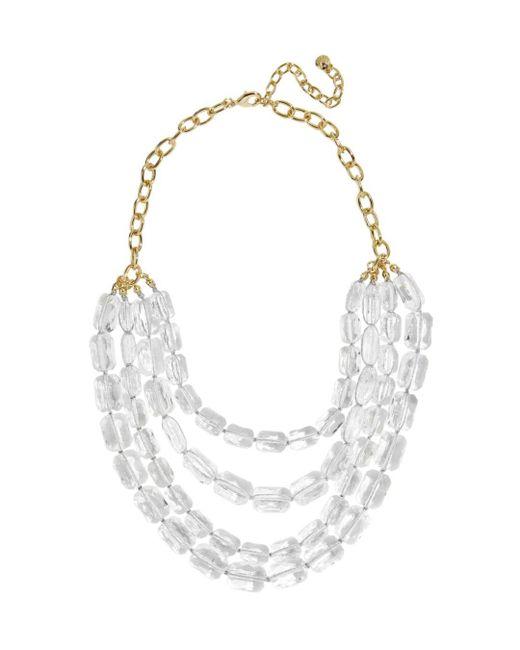 BaubleBar - Metallic Laree Lucite Necklace - Lyst