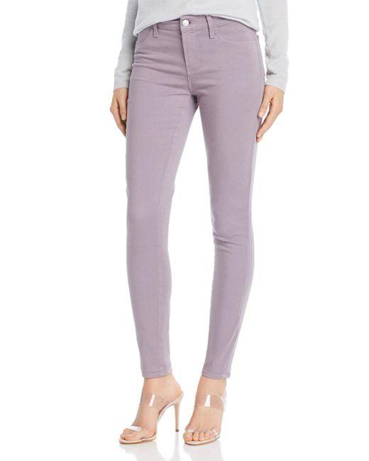 J Brand - Purple 485 Luxe Sateen Super Skinny Jeans In Gemstar - Lyst