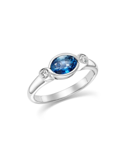 Bloomingdale's - Multicolor Sapphire Marquise And Diamond Bezel Ring In 14k White Gold - Lyst