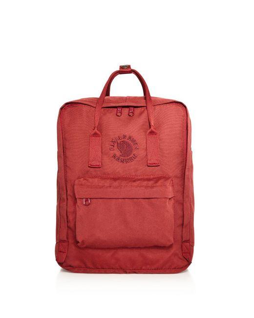 Fjallraven | Red Water-resistant Re-kanken Backpack for Men | Lyst