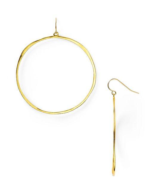 Gorjana | Metallic G Ring Circle Drop Earrings | Lyst